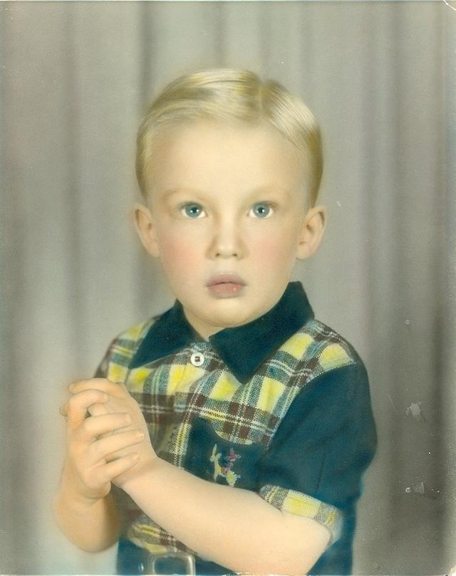 Năm 1950: Donald Trump khi còn là một cậu bé 4 tuổi. (Ảnh: Getty)
