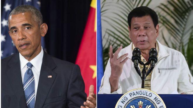 Cuộc họp giữa Tổng thống Mỹ và Tổng thống Philippines đã bị hủy bỏ. (Ảnh: BBC)