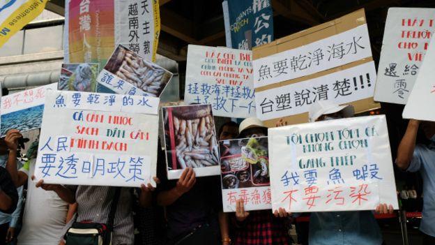 hảm họa môi trường của Formosa gây ra biểu tình ở nhiều nơi