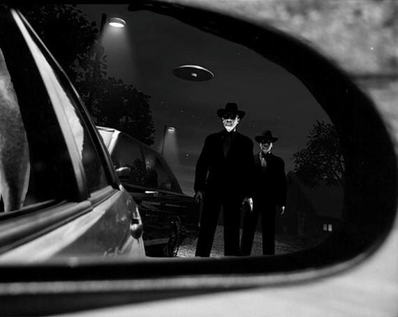 Những người đàn ông áo đen bí ẩn xuất hiện trong qua trình nghiên cứu UFO