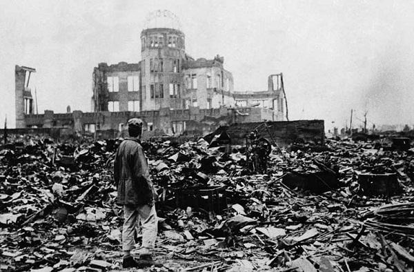 Quang cảnh sau khi xảy ra vụ ném bom nguyên tử, hầu như mọi thứ đều bị thổi bay. Ước tính 90% nhà cửa ở Hiroshima bị hủy diệt hoặc hư hại. (Ảnh: Internet)