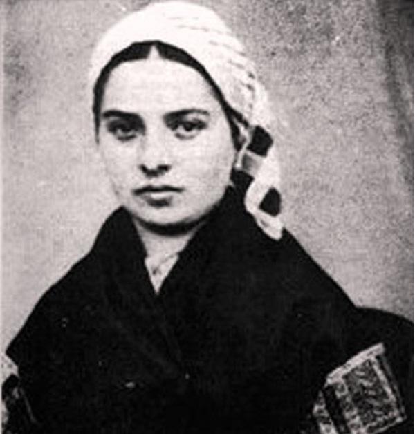 Bernadette thời thiếu nữ. Bà là vị thánh đầu tiên của Thiên chúa giáo có hình chụp lúc còn sống.