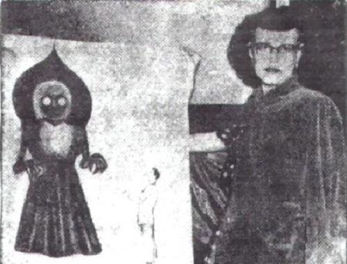 Nhân chứng vẽ lại hình ảnh Quái vật Flatwoods tại