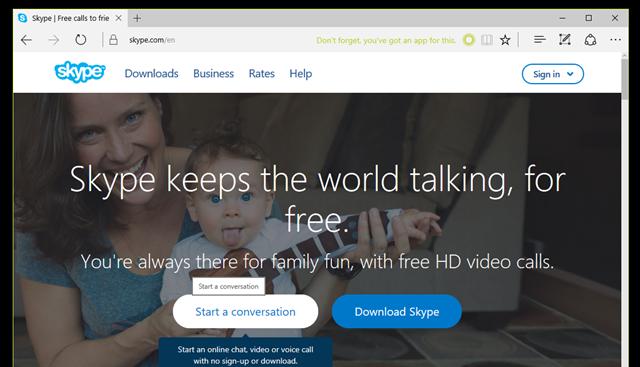 """Trước tiên bạn hãy truy cập vào địa chỉ này bằng trình duyệt Microsoft Edge và nhấn vào lựa chọn.""""Start a conversation"""". (Ảnh: Genk)"""