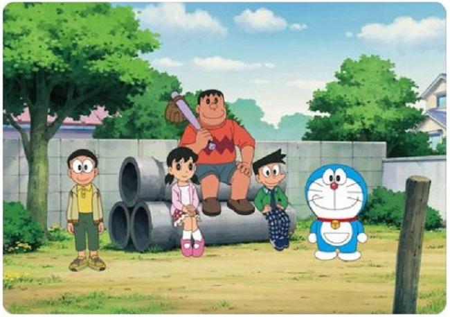 Bộ truyện tranh Doraemon nổi tiếng với những nhân vật gắn liền với tuổi thơ của hàng ngàn người