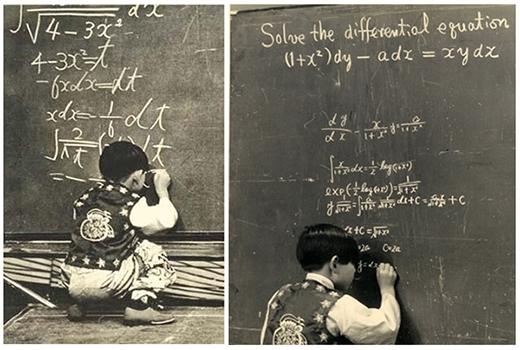 Kim xuất hiện trên truyền hình của Nhật Bản năm 1969 khi đang giải toán. Ảnh: The Korea Herald.