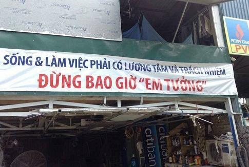 Những câu khẩu hiệu siêu hài hước chỉ có ở Việt Nam.2
