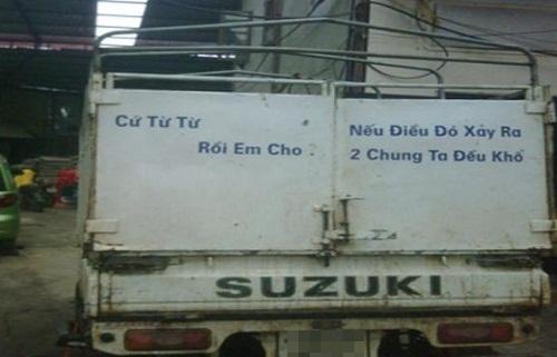 Những câu khẩu hiệu siêu hài hước chỉ có ở Việt Nam.3