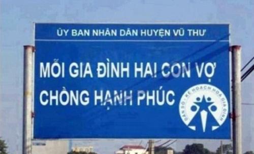 Những câu khẩu hiệu siêu hài hước chỉ có ở Việt Nam.4