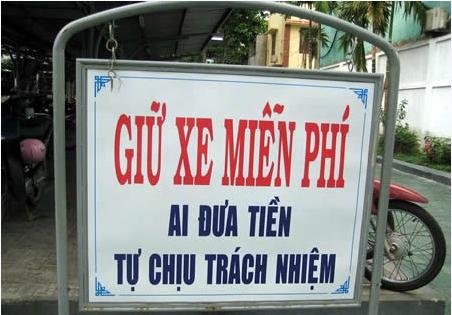 Những câu khẩu hiệu siêu hài hước chỉ có ở Việt Nam.7