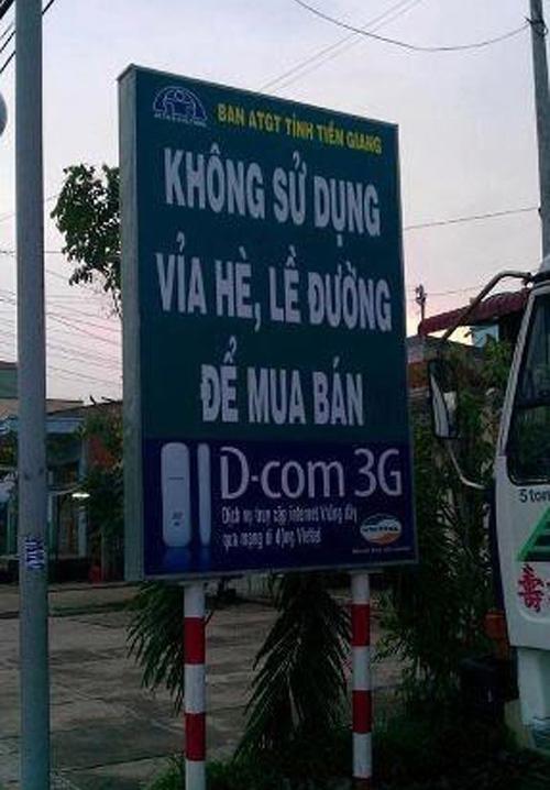 Những câu khẩu hiệu siêu hài hước chỉ có ở Việt Nam.11
