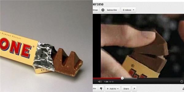 Cách ăn thanh kẹo sô cô la nổi tiếng này chính là bẻ theo chiều xuôi chứ không phải bẻ ngược lại như nhiều người vẫn nghĩ.