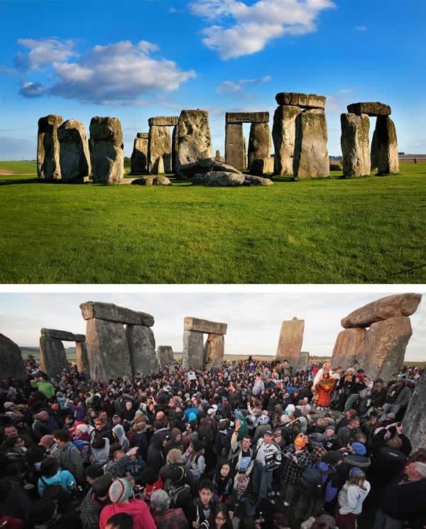 Thách bạn chụp được một bức ảnh những tảng đá Stonehenge trơ trọi một mình đấy. (Ảnh: 9GAG).