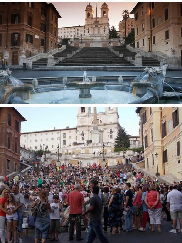 Spanish Steps ở Ý luôn đông như trẩy hội. (Ảnh: 9GAG).