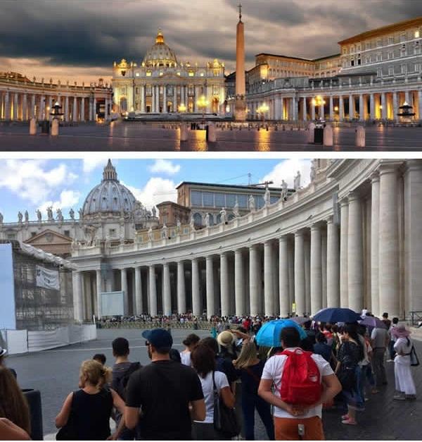 Tòa thánh Peter ở Vatican có thật sự ảo diệu như ảnh chụp? (Ảnh: 9GAG).