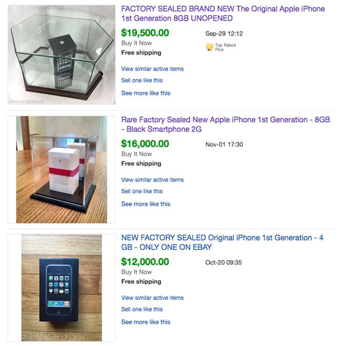 """Loạt iPhone 2G """"cổ lỗ sĩ"""" đang được rao bán trên eBay. (Ảnh: Internet)"""