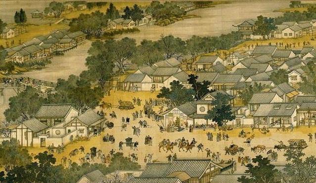 """Một phần nhỏ trong bức """"Thanh minh thượng hà đồ"""". (Ảnh: Wikimedia Commons)."""