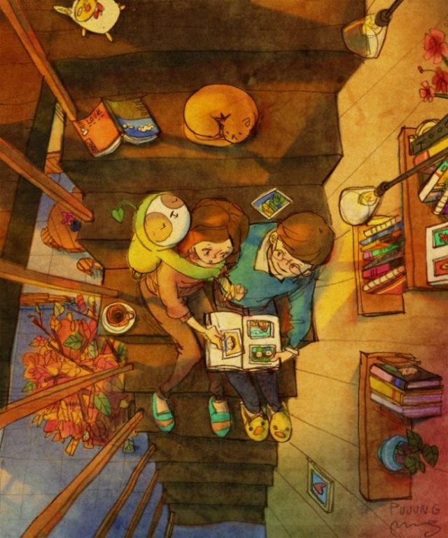 Đọc sách cùng nhau.
