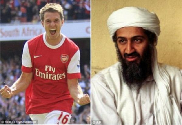 Trùm khủng bố Binladen cũng qua đời sau khi có bàn thắng của Ramsey