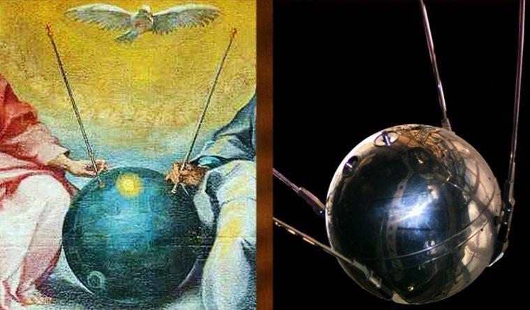 Vật thể hình cầu giống với vệ tinh nhân tạo Sputnik của Liên Xô.