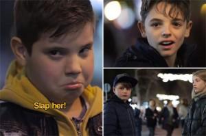 Các cậu nhóc đều bất ngờ và tỏ thái độ không đồng tình khi nhận được yêu cầu sử dụng bạo lực với phụ nữ.