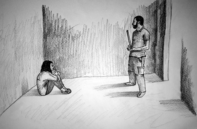 Hầu hết người sống sót kể họ từng bị cưỡng hiếp hoặc xâm hại tình dục. (Minh họa:HRW)