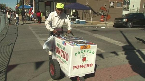 Ông Fidencio Sanchez sẽ không nghỉ ngơi dù được mọi người quyên tiền ủng hộ. (Ảnh:ABC7).