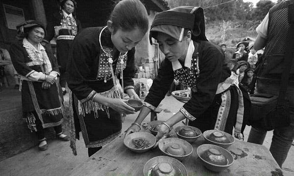 """""""Tam đạo trà"""" nét văn hóa đặc trưng của dân tộc Bạch. (Ảnh: Internet)"""