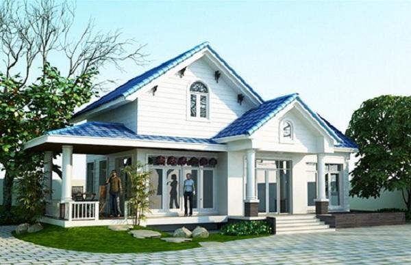 Mua nhà tránh nhà có tường trắng, mái xanh. (Ảnh: Internet)