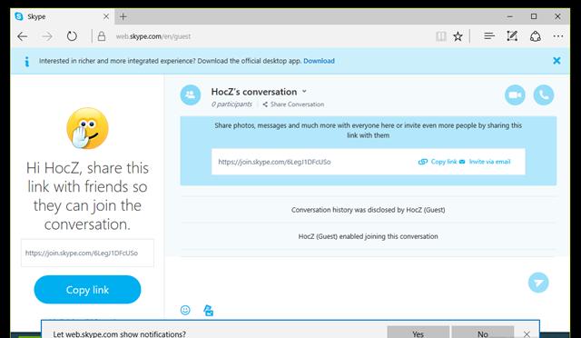 Khi đã hoàn thành việc khởi tạo, bạn sẽ được đưa đến trang sử dụng Skype nền web với đầy đủ các tính năng mà bạn cần cho việc trò chuyện hoặc thực hiện video call. (Ảnh: Genk)