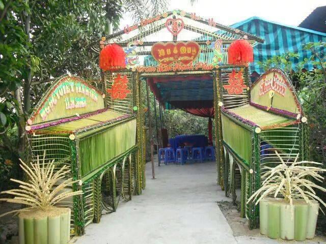 """Ngỡ ngàng với những cổng lá dừa """"chất phát ngất"""" của đám cưới Việt.6"""