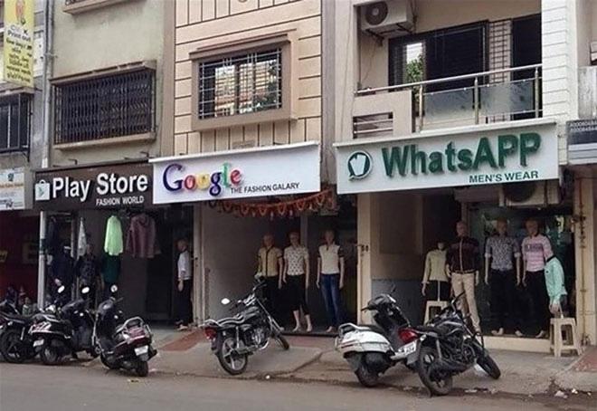 Khi các thương hiệu Internet được dùng để đặt tên cho các cửa hàng thời trang trên đường phố Trung Quốc.