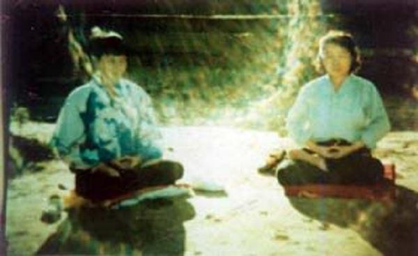 Trường năng lượng khi luyện công được chụp tại Cát Lâm, Trung Quốc 13/10/1997. (Ảnh: Internet)