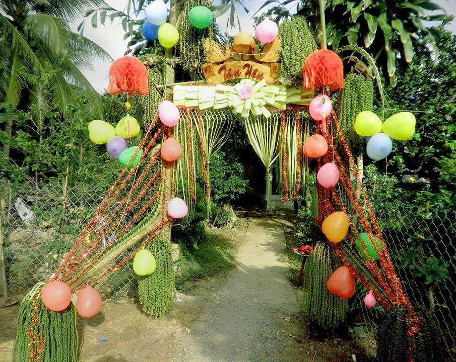 """Ngỡ ngàng với những cổng lá dừa """"chất phát ngất"""" của đám cưới Việt.3"""
