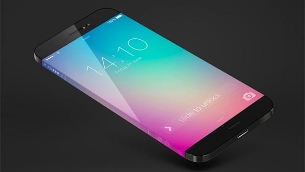 Bản dựng mẫu iPhone mới với màn hình cong, không viền.