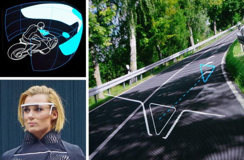 Không có đồng hồ hiển thị thông số, Motorrad Vision Next 100 sẽ truyền tải các thông tin quan trọng như tốc độ, định vị thông qua một màn hình hiển thị ở kính bảo hộ. Trước đây từng có một vài công ty nỗ lực mang công nghệ này áp dụng trong thực tế song không mấy thành công.