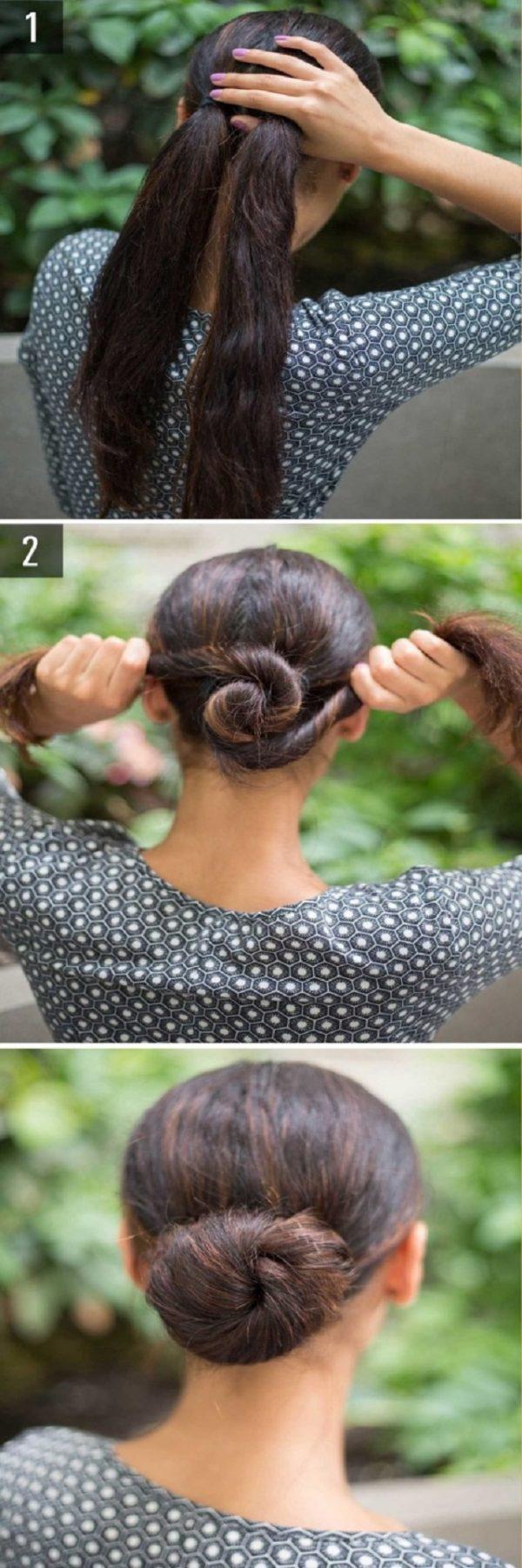 Cách làm những kiểu tóc đẹp, sang trọng nhanh nhất cho các nàng xuống phố (10)