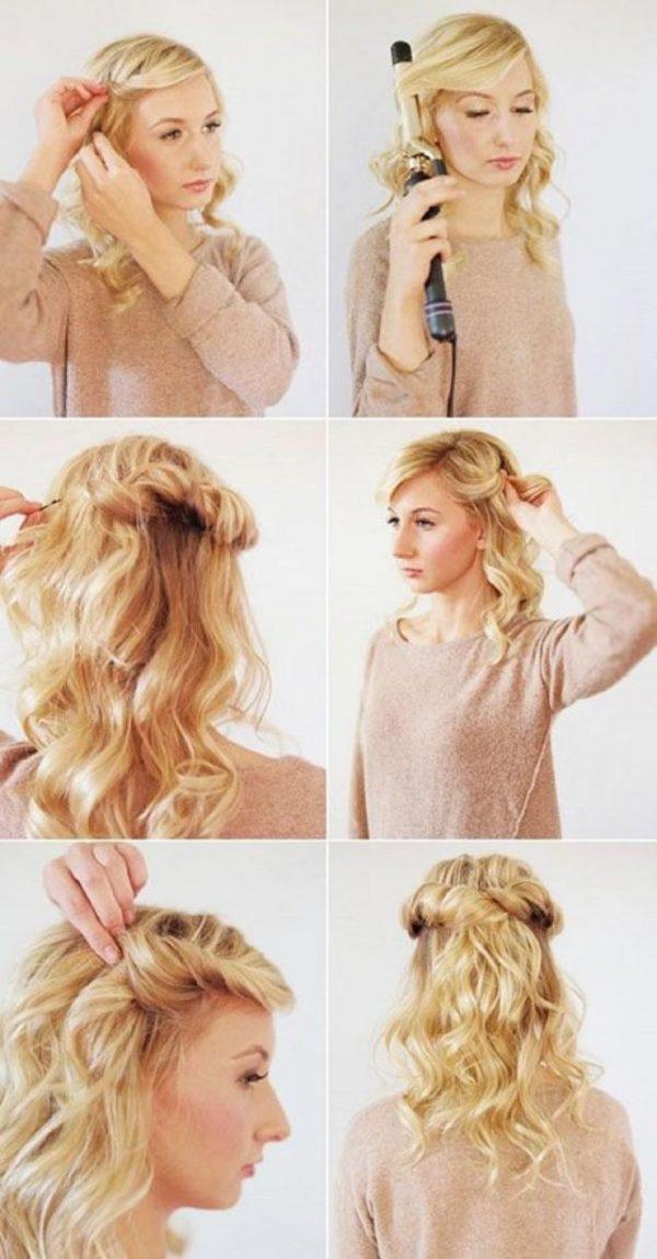Cách làm những kiểu tóc đẹp, sang trọng nhanh nhất cho các nàng xuống phố (2)