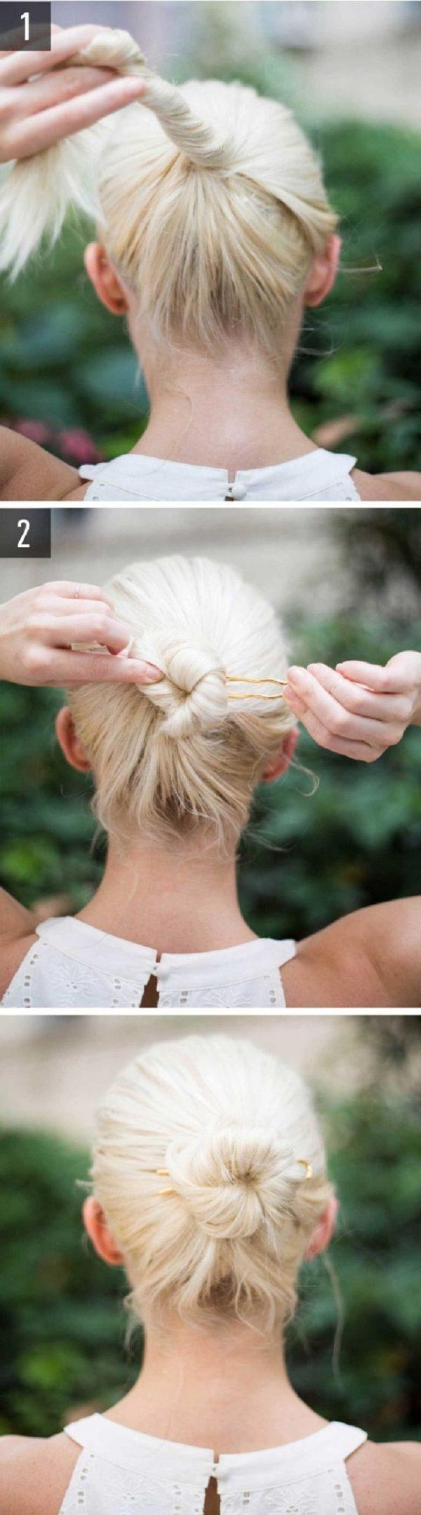 Cách làm những kiểu tóc đẹp, sang trọng nhanh nhất cho các nàng xuống phố (6)