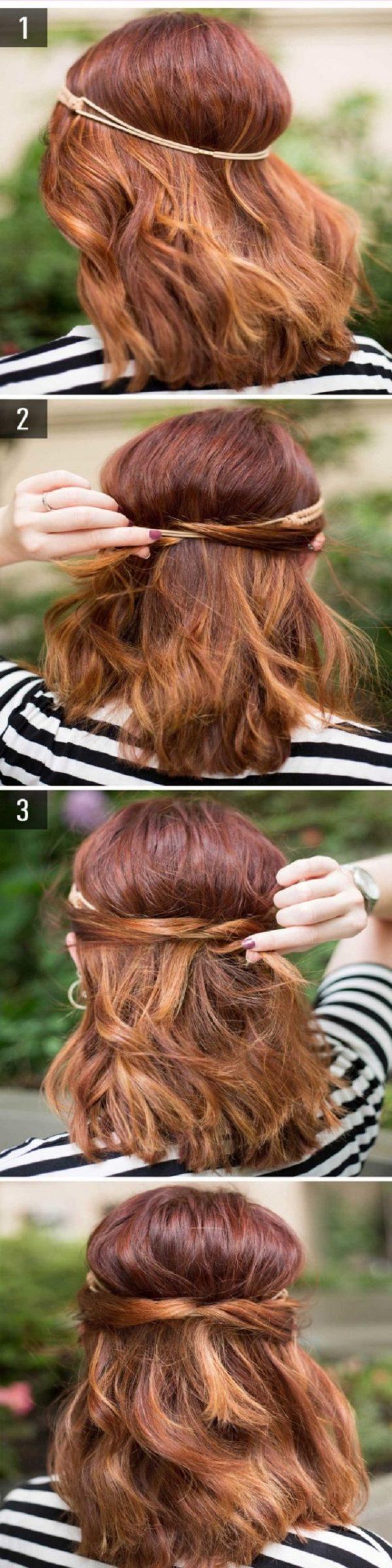 Cách làm những kiểu tóc đẹp, sang trọng nhanh nhất cho các nàng xuống phố (9)