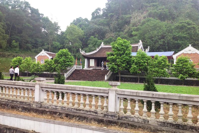 Toàn cảnh đền thờ Lưu Nhân Chú. (Ảnh: Dantri)