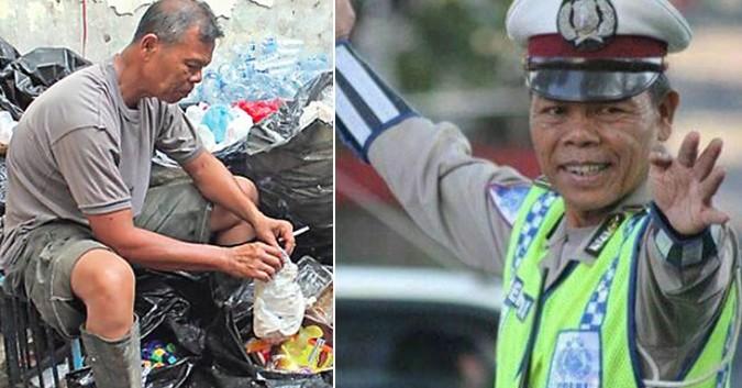 Người cảnh sát già thà nhặc rác còn hơn nhận hối lộ