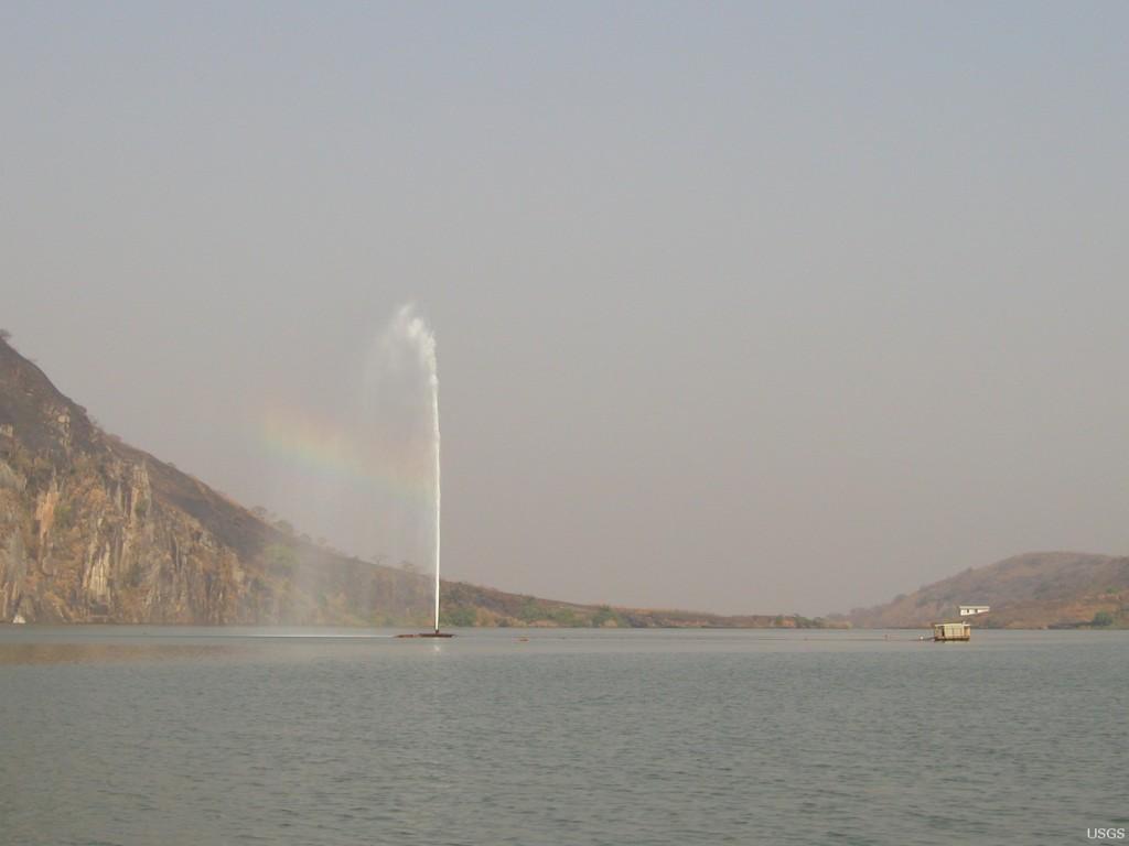 Khung cảnh hồ Nyos ngày nay