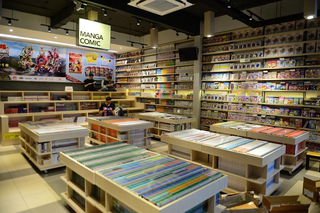Kim Đồng là đơn vị chuyên xuất bản và phát hành sách thiếu nhi. Có thể nói sách của NXB này đã gắn bó với nhiều thế hệ thiếu nhi Việt Nam. Vì vậy, gần 3.000 đầu sách trong trung tâm đều là sách thiếu nhi.