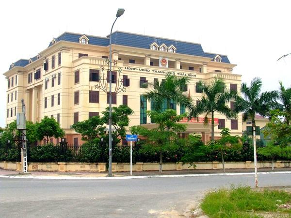 Trụ sở UBND TP Thái Bình, nơi xảy ra vụ nổ súng. (Ảnh: Internet)