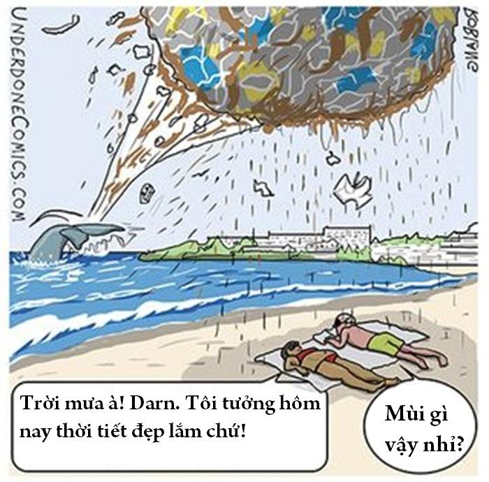 Vi năm nay Ngày Trái đất là vào Thứ Năm, cá voi đã quyết định ăn mừng bằng cách thu thập rác và ném một quả bóng rác khổng lồ lên mặt đất.