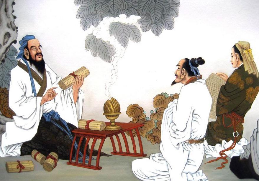 Khổng Tử luôn kiên định coi việc truyền thừa văn hóa lễ nhạc là thiên mệnh, coi việc phổ biến nhân nghĩa là nhiệm vụ không thể không làm. (Ảnh: kaiwind.com)