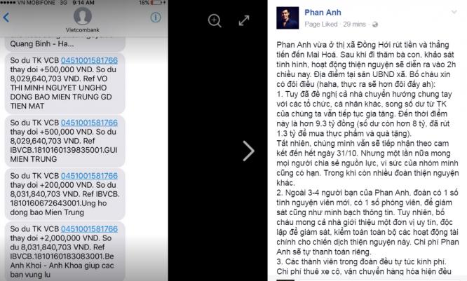 Hơn 9 tỷ đồng tiền quyên góp lũ lụt - MC Phan Anh nói gì?2