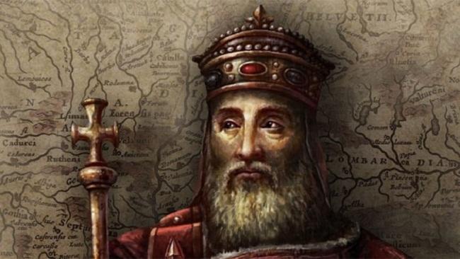 Chân dung Charlemagne. Hình minh họa
