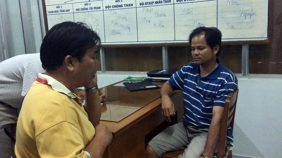 Võ Văn Minh tại cơ quan điều tra.